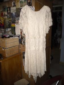 white flapper dress