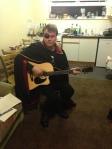 Captain Harlock plays guitar
