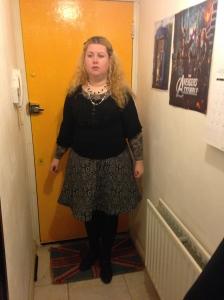 wool damask skirt