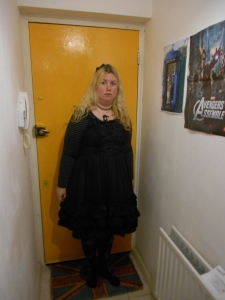 black bodyline dress