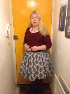 burgundy renfrew top lolita